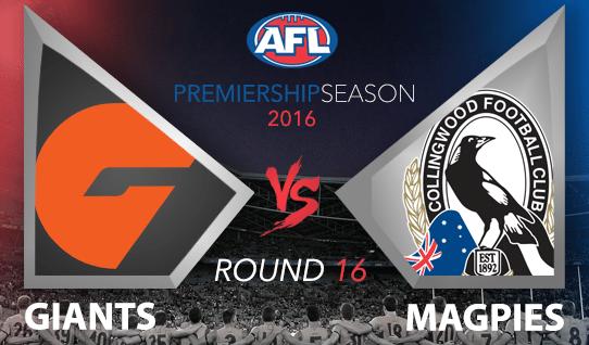 AFL 2016 GWS Giants vs. Collingwood