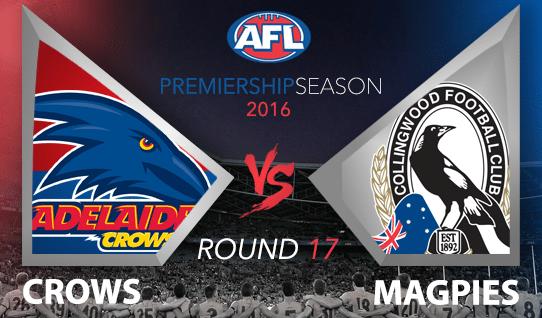 AFL 2016 Crows vs. Magpies