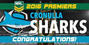 NRL Sharks Premiers