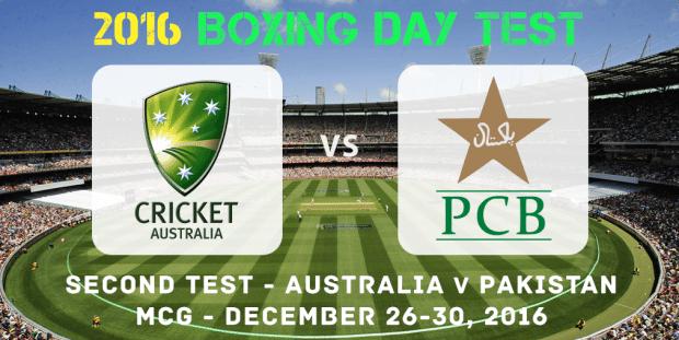Australia vs. Pakistan Second Test