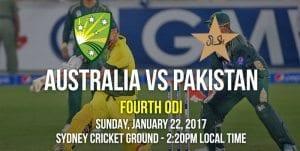 AUS vs. PAK 2017 - Fourth ODI