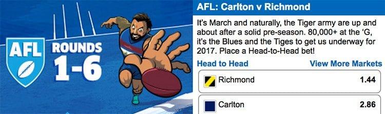 AFL Round 1 Richmond vs. Carlton