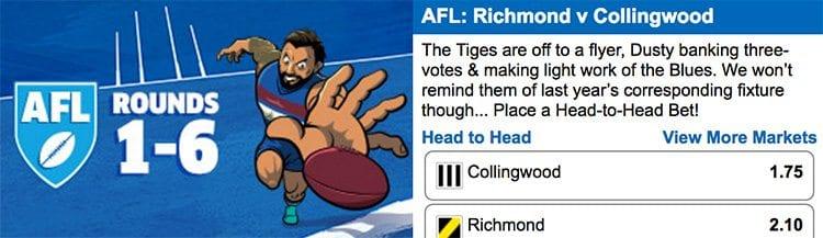 Sportsbet AFL specials