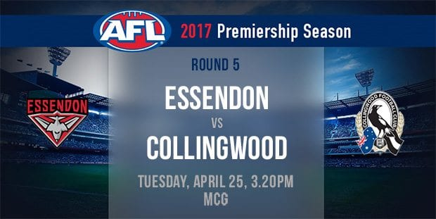 ANZAC Day betting and value tips | Collingwood vs  Essendon