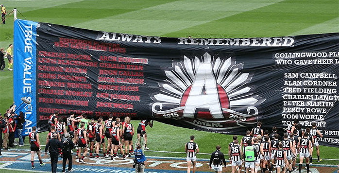 Collingwood Essendon ANZAC Day