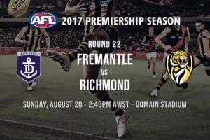 AFL Freo vs. Tigers - Round 22, 2017