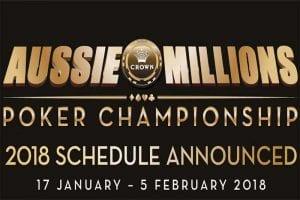 Aussie Millions 2018 schedule