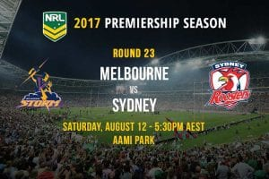Storm vs. Roosters - Round 23, NRL 2017