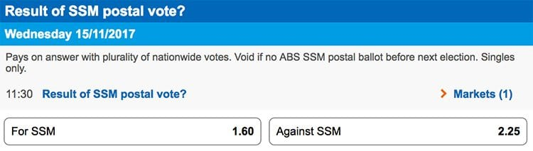 Same Sex Marriage Sportsbet