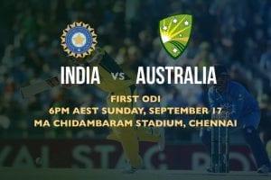 IND vs. AUS 1st ODI odds