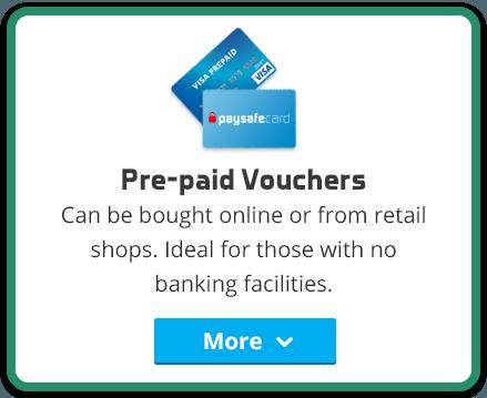 prepaid cards vouchers online deposit