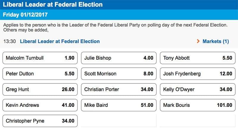 Liberal leader at next election