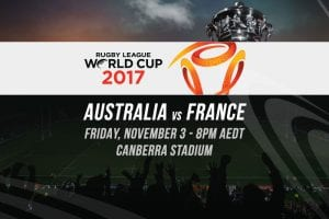 2017 Rugby League World Cup odds
