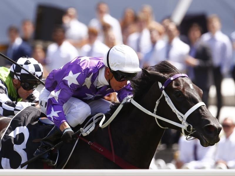 Jockey Kerrin McEvoy rides Noire to win race 4