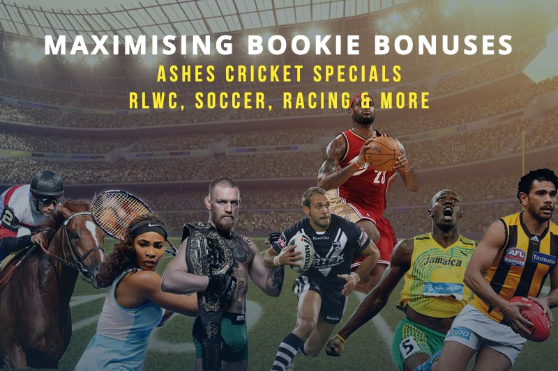 Bonus offers for Ashes, RLWC, EPL, A-League, horse racing