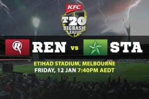 Renegades vs. Stars Big Bash odds