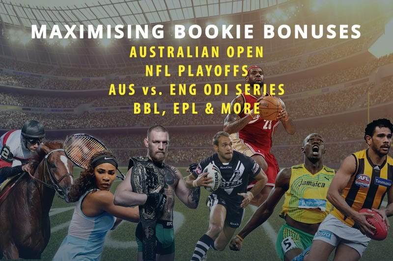 Best sports betting specials for January 2018