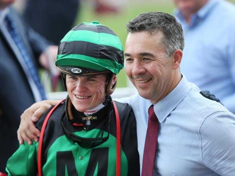 Jockey Craig Williams and trainer Andrew Noblet