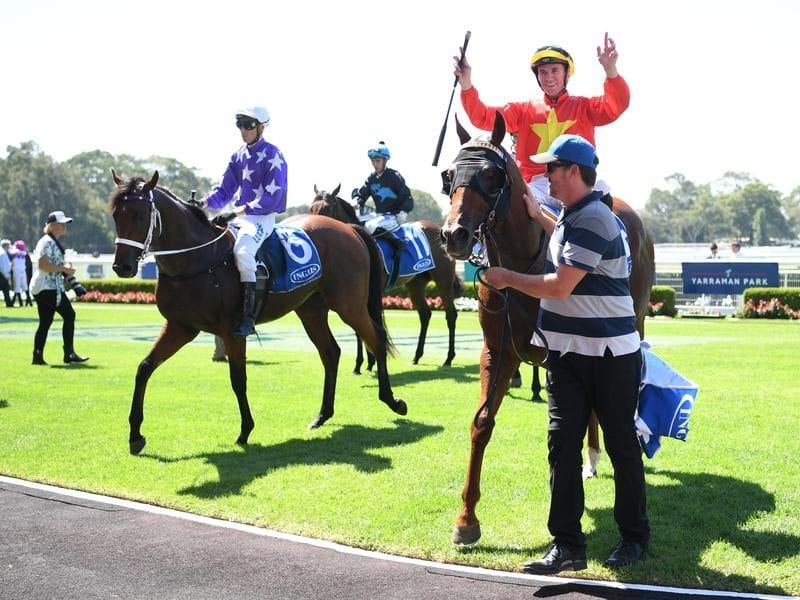 The Enzo after winning the Inglis Classic.
