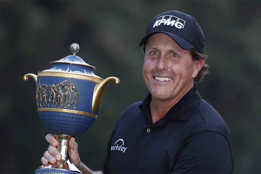 US golfer Phil Mickelson