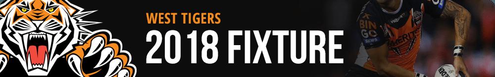 West Tigers 2018 Fixture