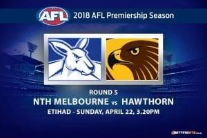 Kangaroos vs Hawks