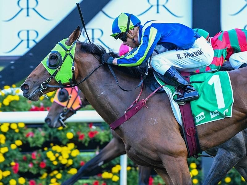 Jockey Kerrin McEvoy riding Luvaluva to win.
