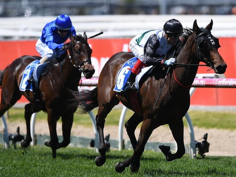 Champagne Booms wins at Caulfield.