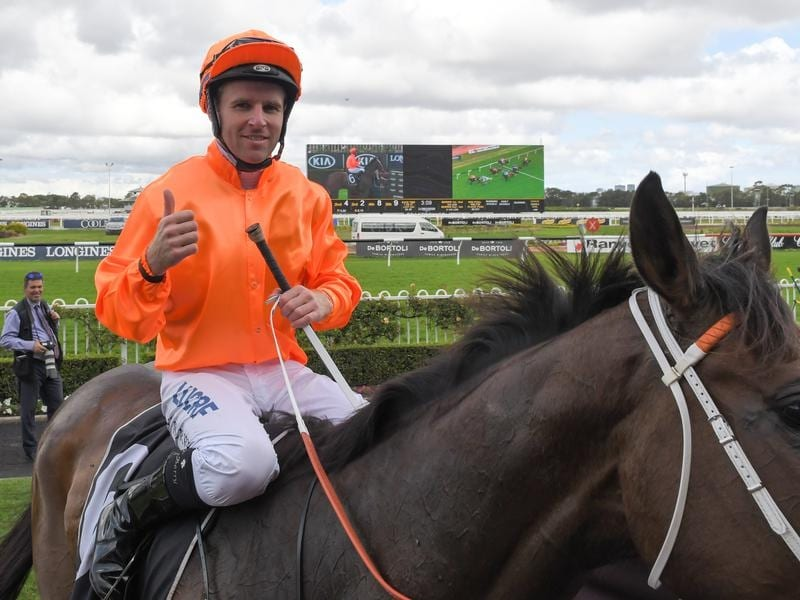 Tommy Berry after riding Firsthand to victory in race 5 at Rosehill