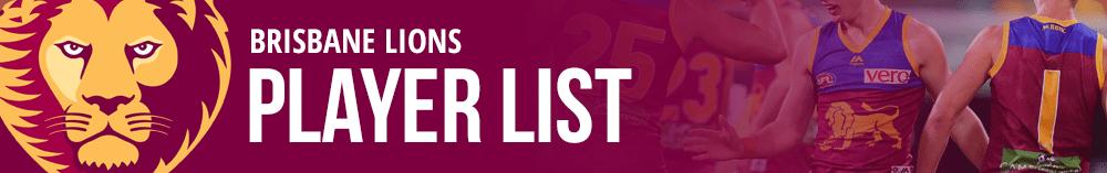 brisbane lions player list