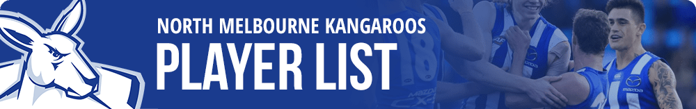 North Melbourne player list