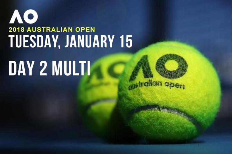Australian open Tuesday multi