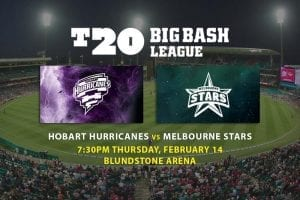 Hobart Hurricanes vs. Melbourne Stars BBL odds
