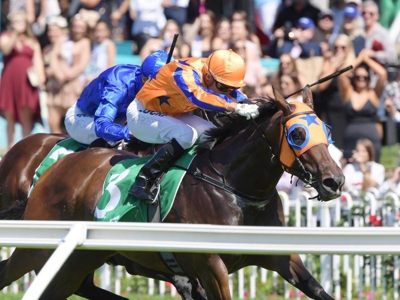 Jockey Opie Bosson rides Avantage to victory