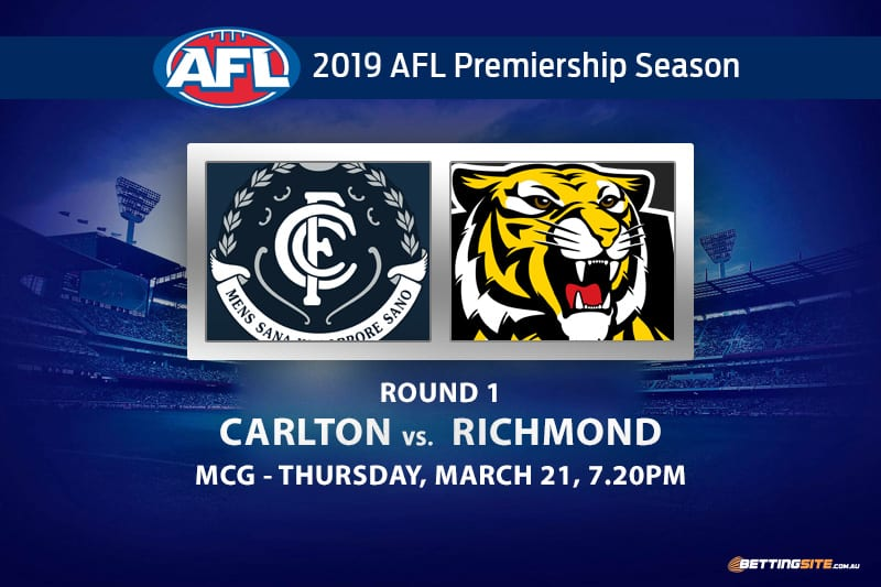 Simpson most disposal betting | Carlton vs  Richmond AFL Round 1