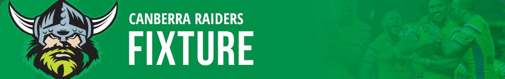 Raiders NRL fixtures