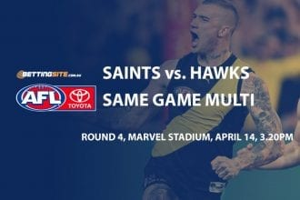 saints v hawks AFL multi