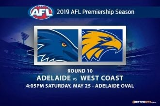 2019 AFL Crows vs Eagles betting