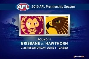 AFL 2019 Brisbane Hawthorn betting tips