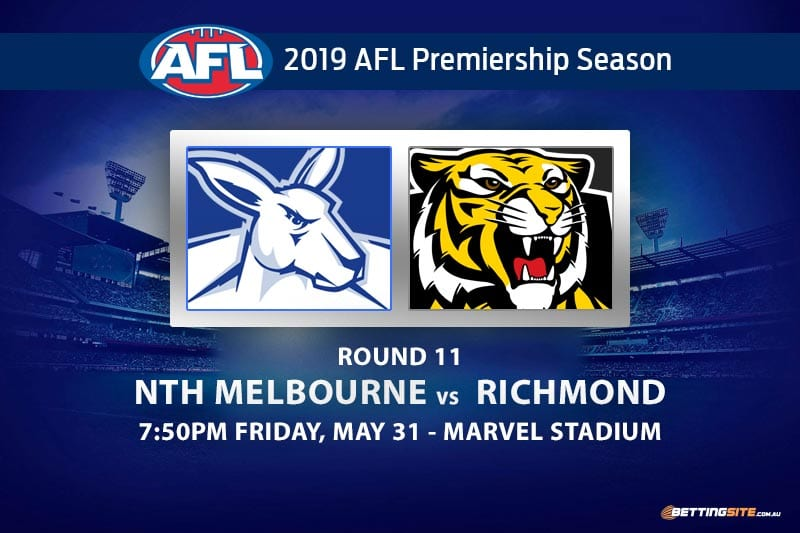 2019 AFL Roos vs Tigers betting tips