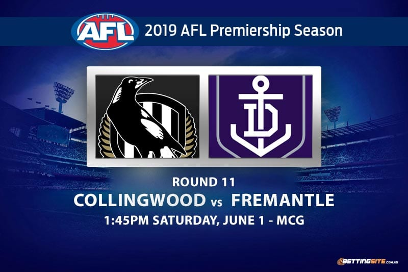 2019 AFL Collingwood Fremantle betting tips