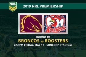 2019 NRL Broncos vs Roosters betting tips