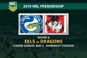 NRL 2019 Eels vs Dragons betting tips