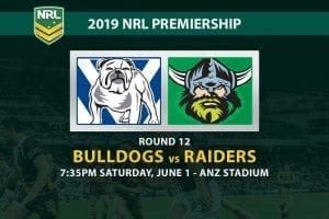 2019 NRL Bulldogs Raiders betting tips