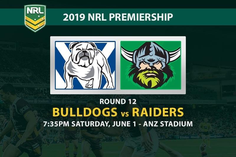 2019 NRL Bulldogs Raiders betting tips