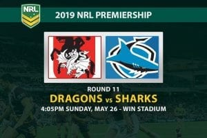 2019 NRL Dragons vs Sharks odds