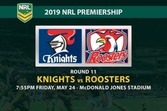 2019 NRL Knights vs Roosters betting