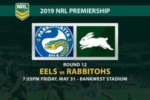 2019 NRL Round 12 Parra vs Souths betting
