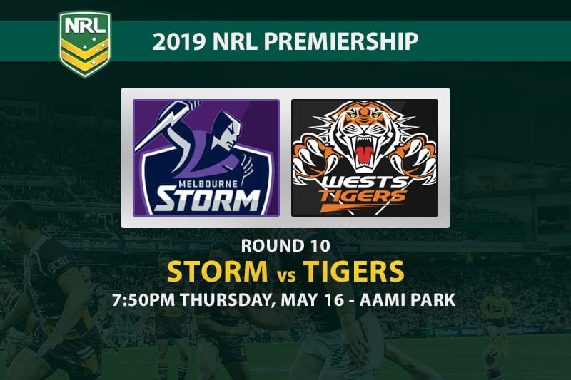 2019 NRL betting tips Storm vs Tigers