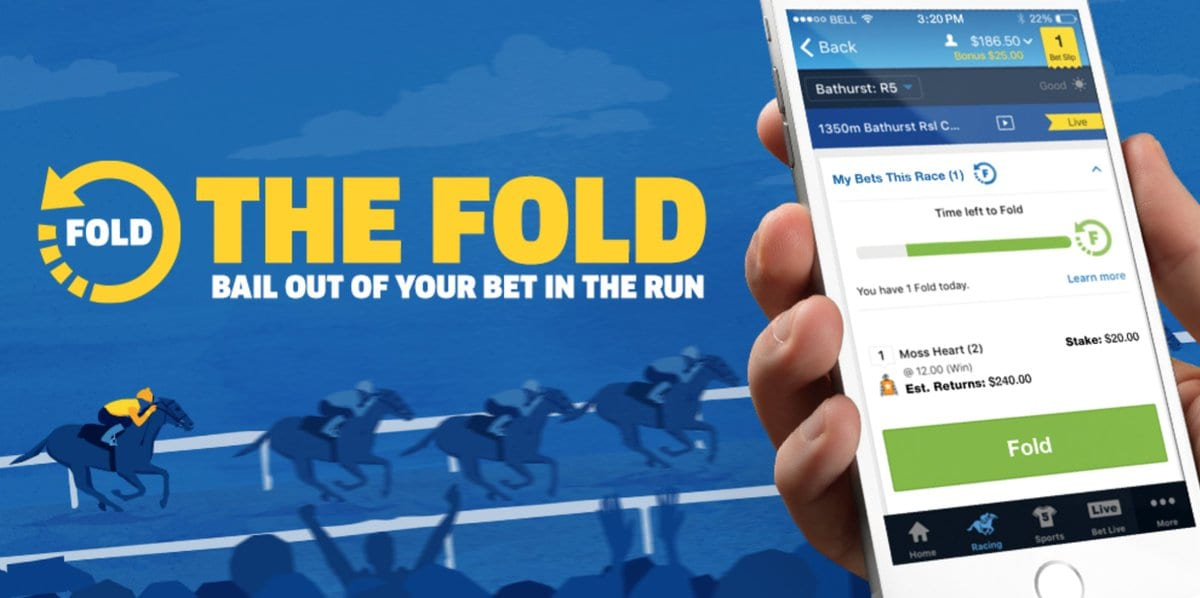 Sportsbet's the fold betting feature